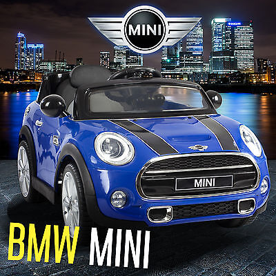 MINI COOPER S Kids Ride On Car 12V Battery 2X Motor Remote Control Cars Licensed