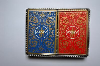 THAI AIRWAYS airline playing cards, used