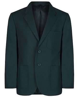 Boys Green Beau Brummel Viscount  Polyester Machine  Washable School Blazer