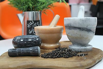 LARGE Marble Mortar And Pestle Grinding,Crushing and Mixing Herbs and Spices