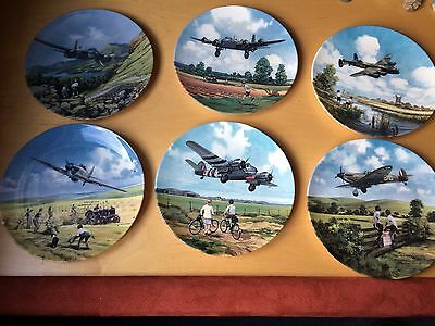 6 Royal Doulton Plates Limited Editions - Heros Of The Sky