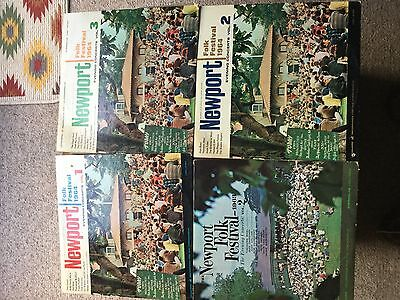 4 x Newport Folk Festival Lps from the 60s