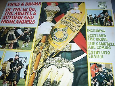 Pipes & Drums of the 1st Bn. The Argyll & Sutherland Highlanders LP MFP 50221