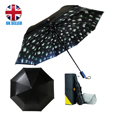 Premium Quality AUDI Umbrella Folding Automatic Genuine Car Brand Black Brolly