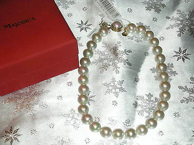 Authentic Majorica Pearl  Necklace, New