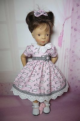 PIXIES HAND MADE:DRESS for dolls like MINOUCHE 13 INS HIGH DOLL: LITTLE DARLING