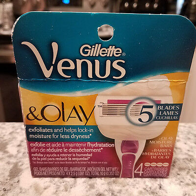 Gillette Venus & Olay Razor Replacement Blades 4 Cartridges - FREE SHIPPING