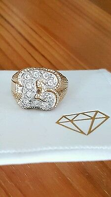 mens 9ct gold ring £sterling sign. VERY RARE