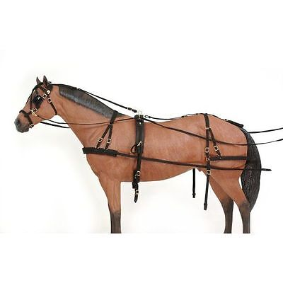 Tough 1 Deluxe Durable Nylon Pony Horse Size Adjustable Driving Harness