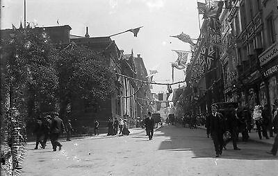 LIVERPOOL Bold Street Antique Photographic Glass Negative (Victorian Jubilee)