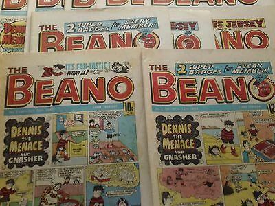 10 BEANO COMICS FROM THE1980's (B1) GOOD CONDITION