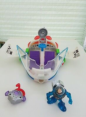 Toy Story BUZZ LIGHTYEAR Star Command Cruiser Spaceship Mattel 2003 With Figure