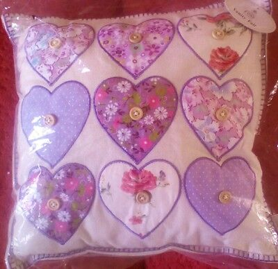 New home Small Cushion - LOVE -hearts   Shabby Chic gift