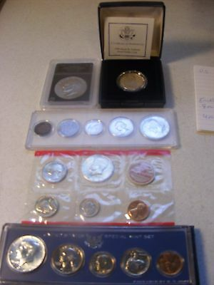 Lot of U.S.Coin Sets incl. Mint, Silver UNC