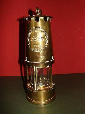 Brass Miners Lamp Eccles Protector Lamp no. 6