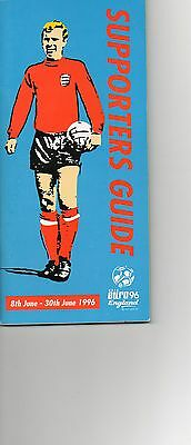Euro96 Supporters Guide 104 pages - teams , grounds etc 104 pages