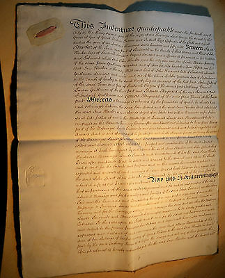 Antique Indenture Quadripartite  Jane Hawker & John Dillnot 1758