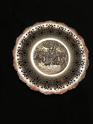 Hans Jensen Silverplated Wall plate with silver and copper tray