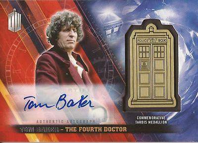 """Doctor Who Timeless - Tom Baker """"Fourth Doctor"""" Autograph Medallion Card #05/10"""