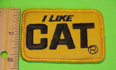 I Like  C A T      Caterpillar   Advertising Patch  New Free Shipping !!!