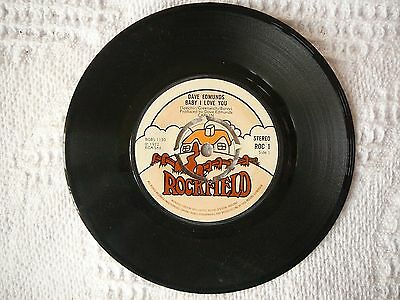 DAVE EDMUNDS - BABY I LOVE YOU 45rpm 7 inch JUKEBOX VINYL SINGLE 1970S