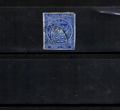 Ecuador Postage Stamp Scott #A1 Ultra 1/2 Real Used