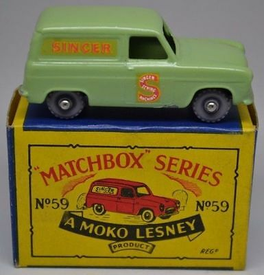 Matchbox Lesney Moko No 59 Ford Singer Van GPW in Type B Box