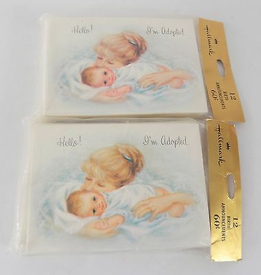 Vintage Hallmark Adoption Announcements Cards 24 Cards with Envelopes NEW