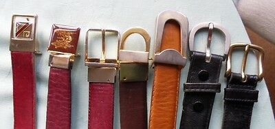 7 leather trouser belts, used, from London shops
