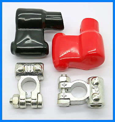 Heavy Duty Battery Terminal Clamps 60mm2 11mm - Free Terminal Covers & UK P&P