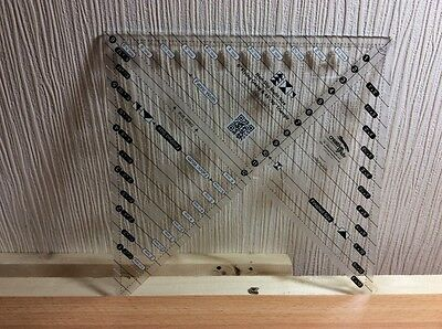 """Creative grid,multi size,6"""" flying geese & 45/90deg triangle sewing ruler."""