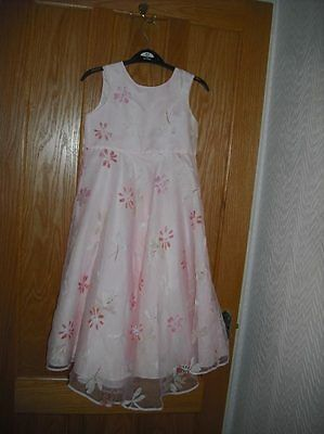 girls bridesmaid/ occasion dress. pale pink age 7/8 tigerlily