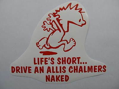 ALLIS CHALMERS naked decal MOWER tractor pull pulling STICKER trailer parts