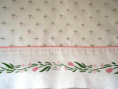 Laura Ashley Twin Single Flat Sheet Cottage Sprig Castleberry Pink Flowers EUC