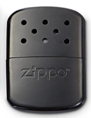 Zippo Black Hand Warmer With Cloth Pouch, 40334 New In Box