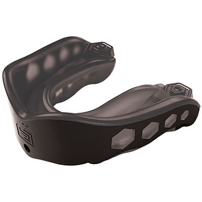 Shock Doctor Gel Max Mouthguard Mouth Guard Gum Piece Convertible Black Youth