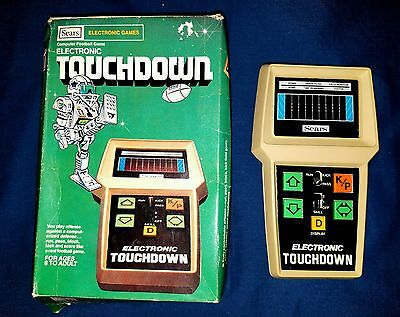 Vintage 1970s Sears Electronic Touchdown Hand-Held Football Game w/ ORIGINAL BOX
