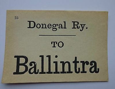 Donegal Railway Luggage Label To Ballintra