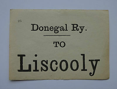 Donegal Railway Luggage Label To Liscooly