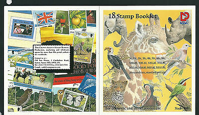 Namibia 1997 Flora and Fauna Stamp booklet,18 mint stamps