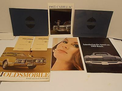 Lot of GM Automobiles (minus Chevy) Brochures/Catalogs from 50s-60s (D