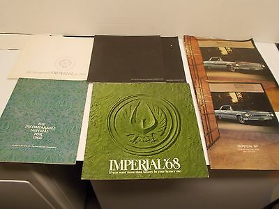 Lot of Chrysler Imperial Automobiles Brochures/Catalogs from 1964-68 (G