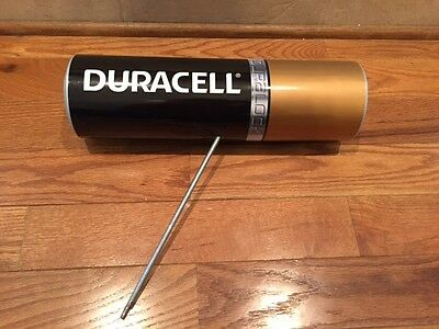"""Duracell Battery Advertising Store Display Large 16"""" Plastic Battery"""