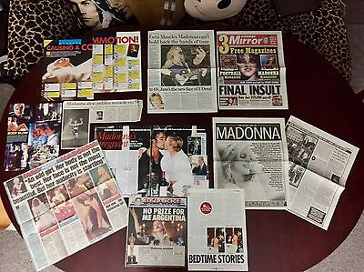 Madonna Various Magazine And Newspaper Articles Cuttings Pack 9