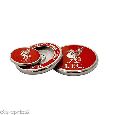 Liverpool Fc Hard Enamel Duo Golf Ball Marker In Clam Shell