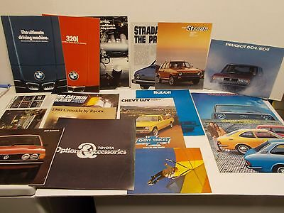 Lot of Foreign Makes Automobile Brochures/Catalogs from the 70s - 80s (L