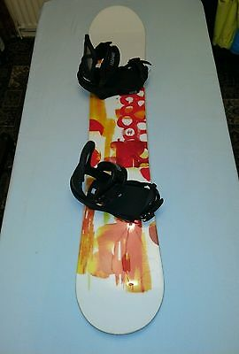 Burton Feather Snowboard and Escapade Bindings Package