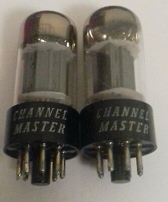 Channel master 6sn7gt vintage pair in excellent condition