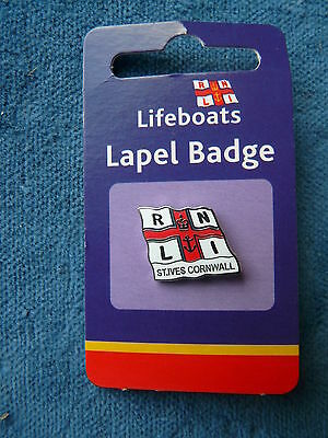 RNLI  Lifeboat Badge  -  St Ives  Cornwall