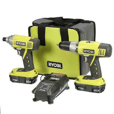 Ryobi ONE+ 18-V Lithium-Ion Cordless Drill/Driver and Impact Driver Kit RDK002